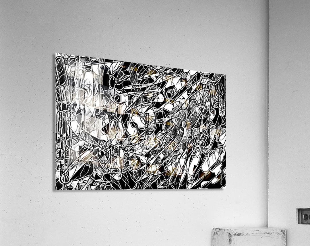 Black & White Art Threshold Light Texture  Acrylic Print