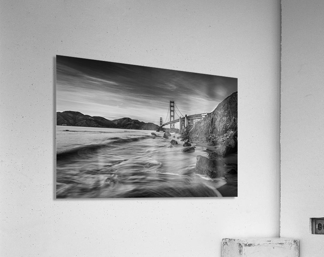 B&W Golden Gate Sunset  Acrylic Print