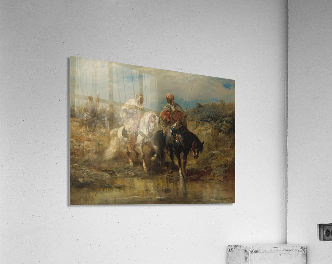 Arab horsemen raiding  Acrylic Print
