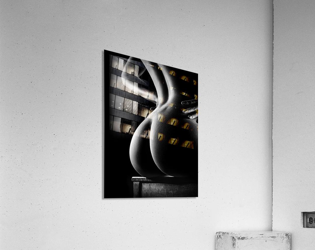 Nude buttocks on chair  Acrylic Print