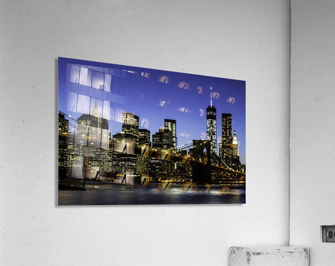 NY City Lights   Acrylic Print