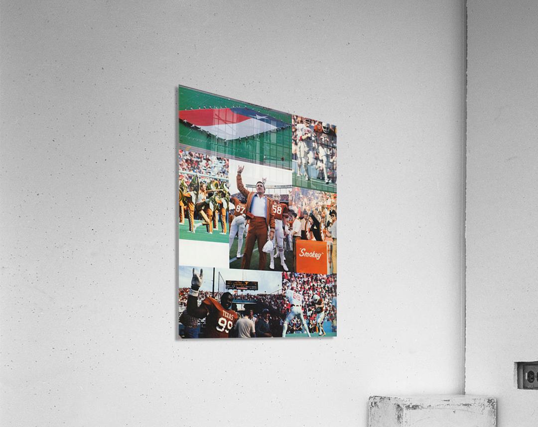 Texas Longhorns Football Poster_Texas Longhorn College Football Photo Collage  Acrylic Print