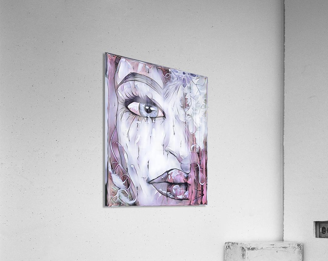 Femme a plumes  Acrylic Print