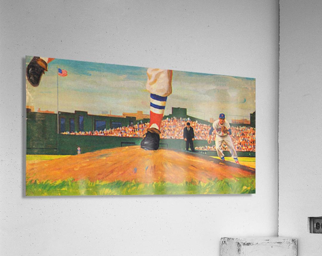 The Mound_Vintage Red Sox Baseball Art_Row One Brand  Acrylic Print