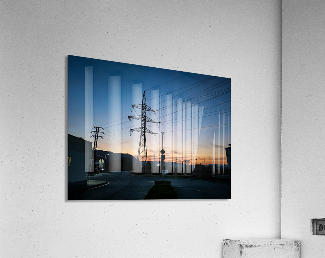 Industrial sunset  Acrylic Print
