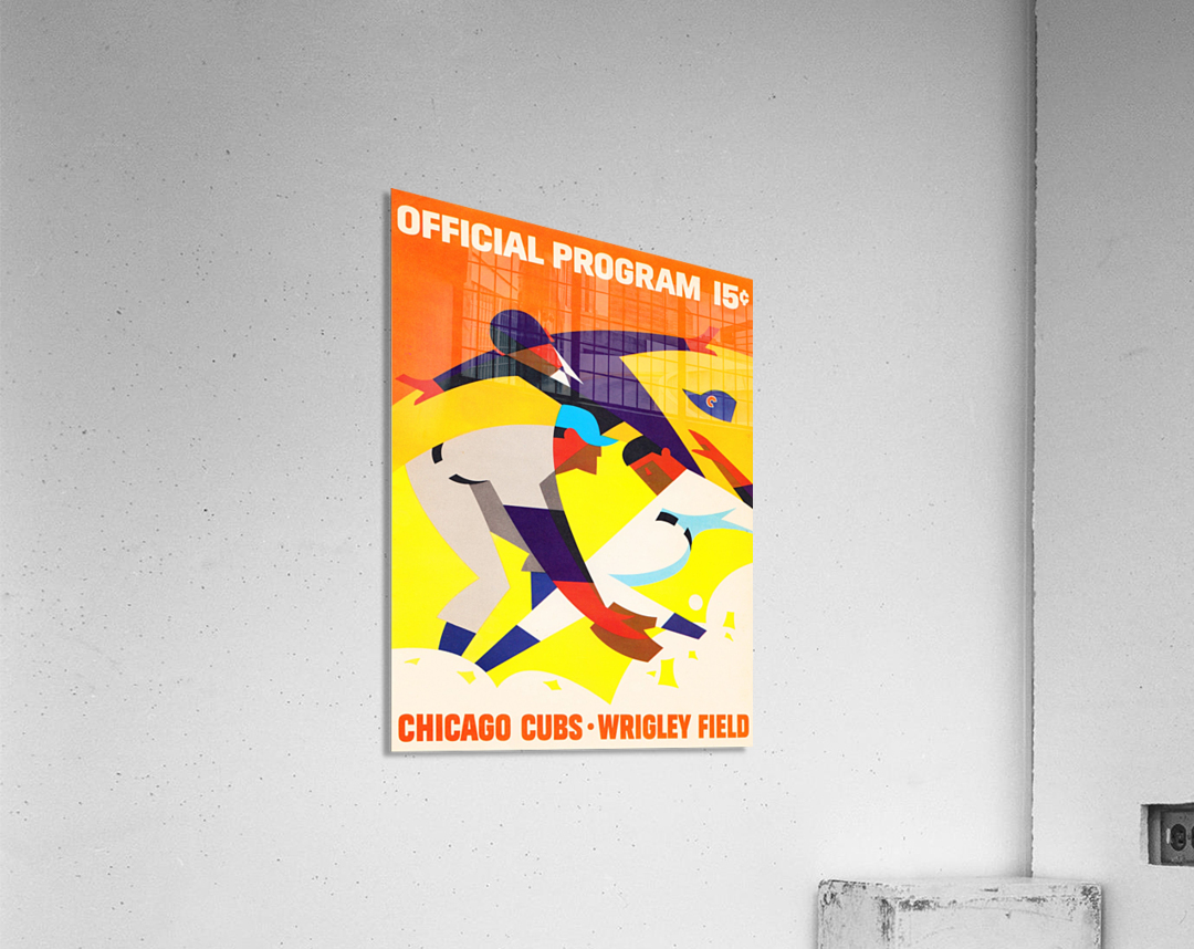 1967 Chicago Cubs Wrigley Field Program Poster_Vintage Cubs Art  Acrylic Print