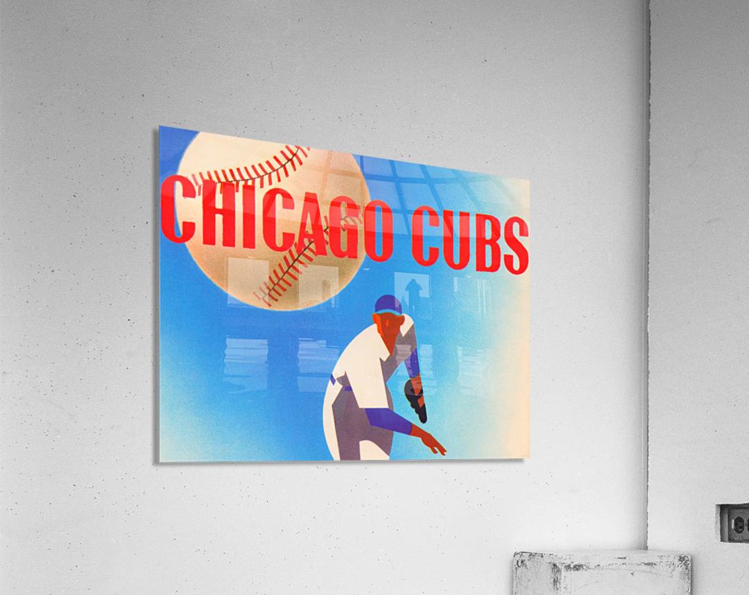 Sports Art Remixes_Public Domain Sports Art Creations_Chicago Cubs Poster (1950)  Acrylic Print