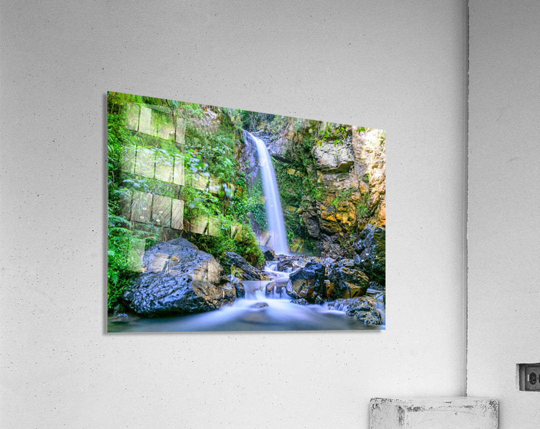 Waterfall in the forest  Acrylic Print