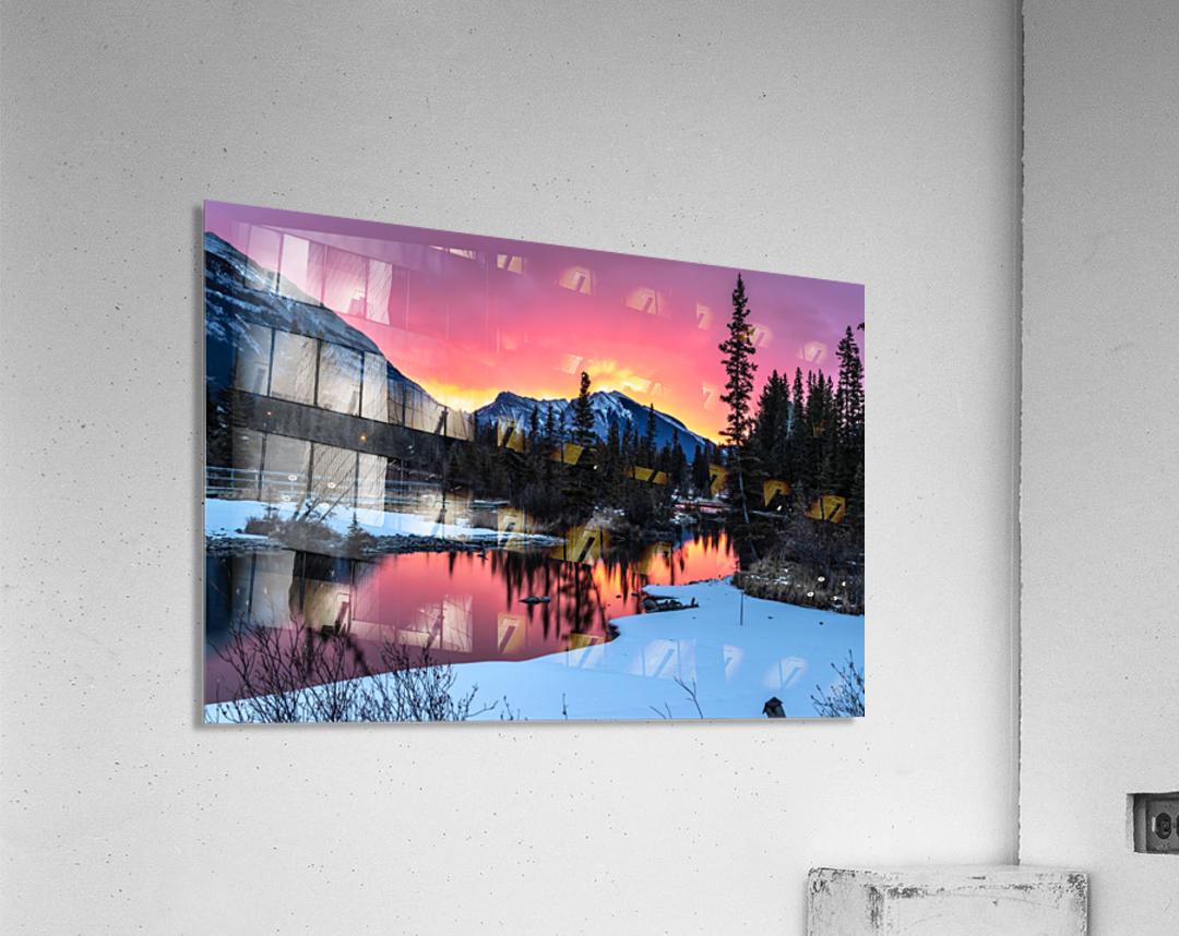 Sunrise At Policemans Creek Alberta  Acrylic Print