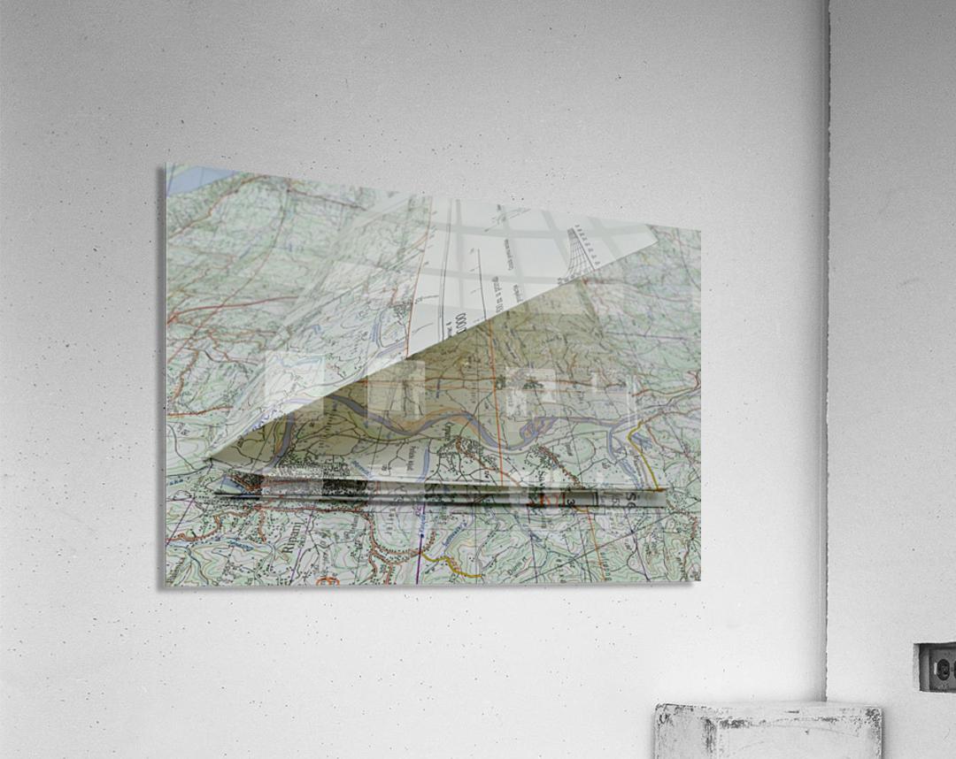 map navigation orientation drawing geography  Acrylic Print