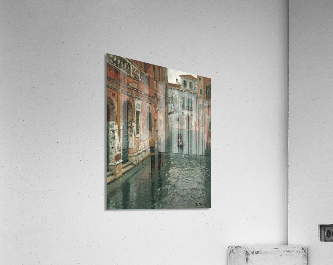 Along the canal in Venice  Acrylic Print