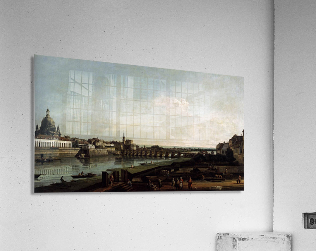 Dresden from the Right Bank of the Elbe, above the Augustusbrucke  Acrylic Print