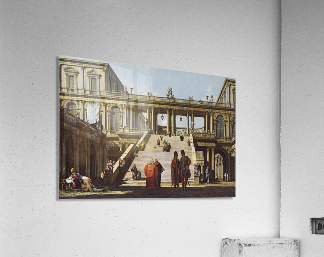 Street scene outside palace  Acrylic Print