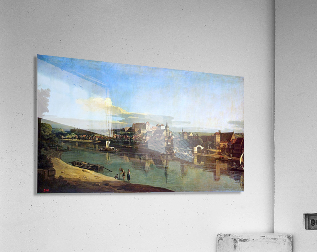 The Hermitage Museum. View of Pirna from Posta  Acrylic Print