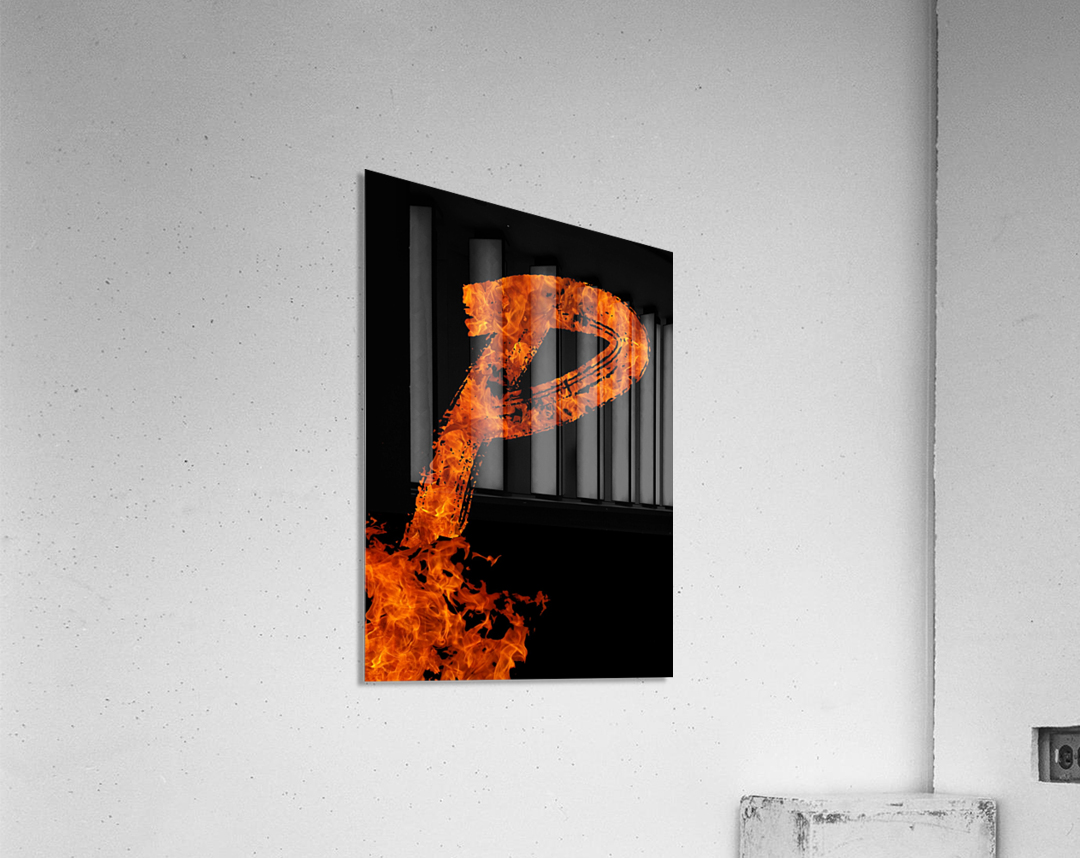 Burning on Fire Letter P  Acrylic Print