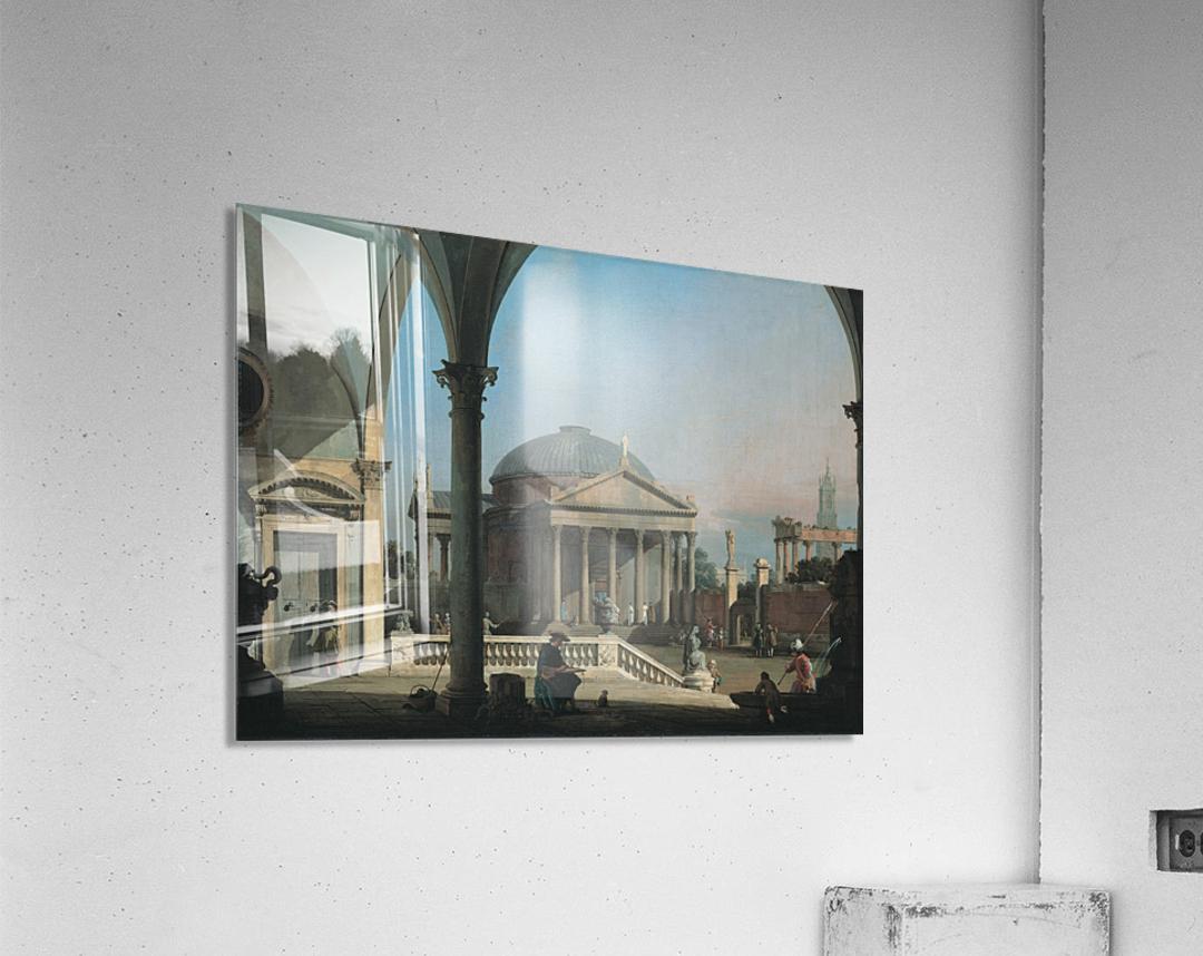 Caprice avec des ruines classiques  Acrylic Print