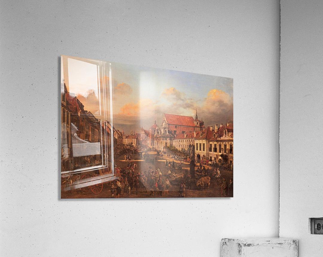 Die Altstadt wurde nach dem Krieg nach alten  Acrylic Print