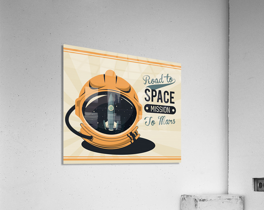 Life space vintage poster with set scenes  Acrylic Print
