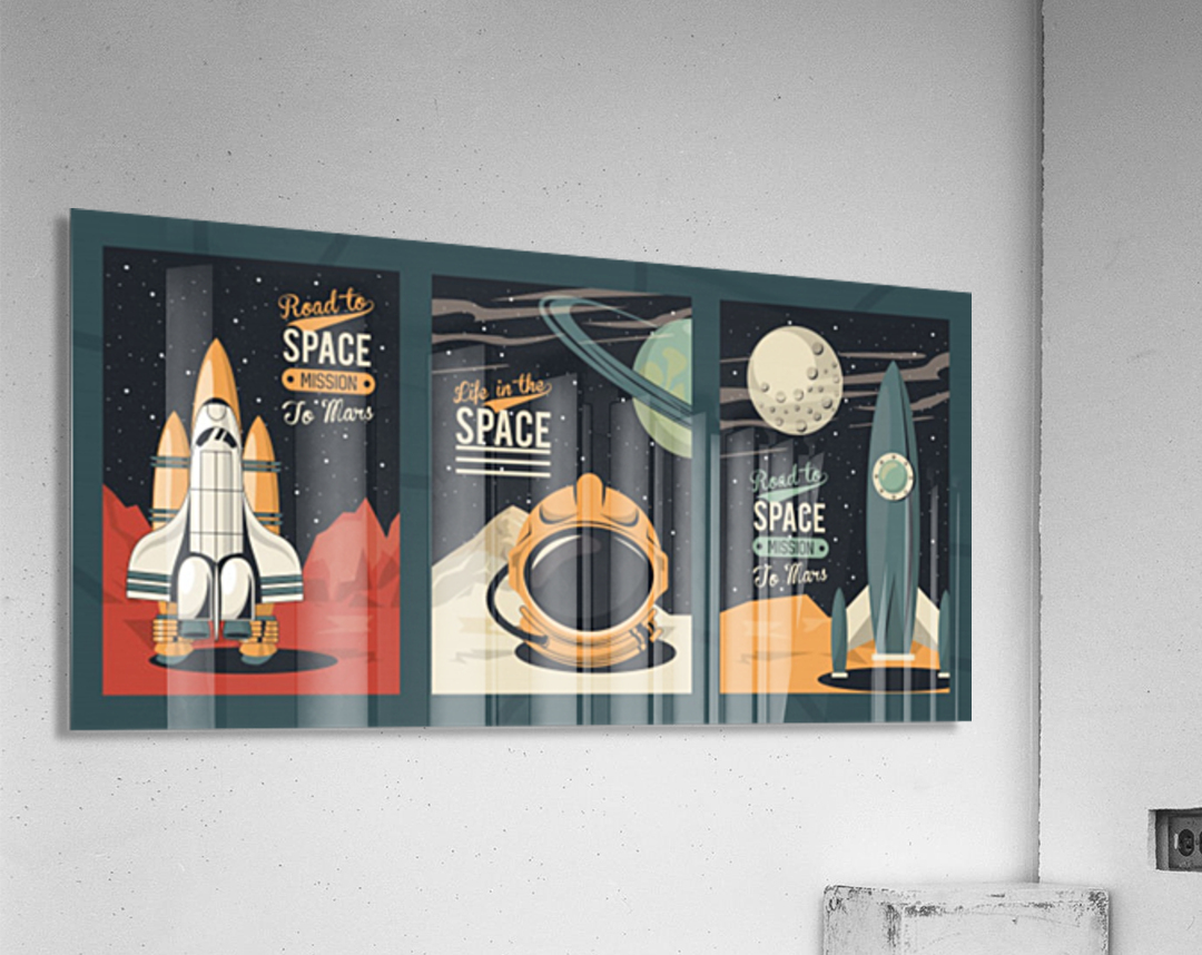 Life space poster with set scenes  Acrylic Print
