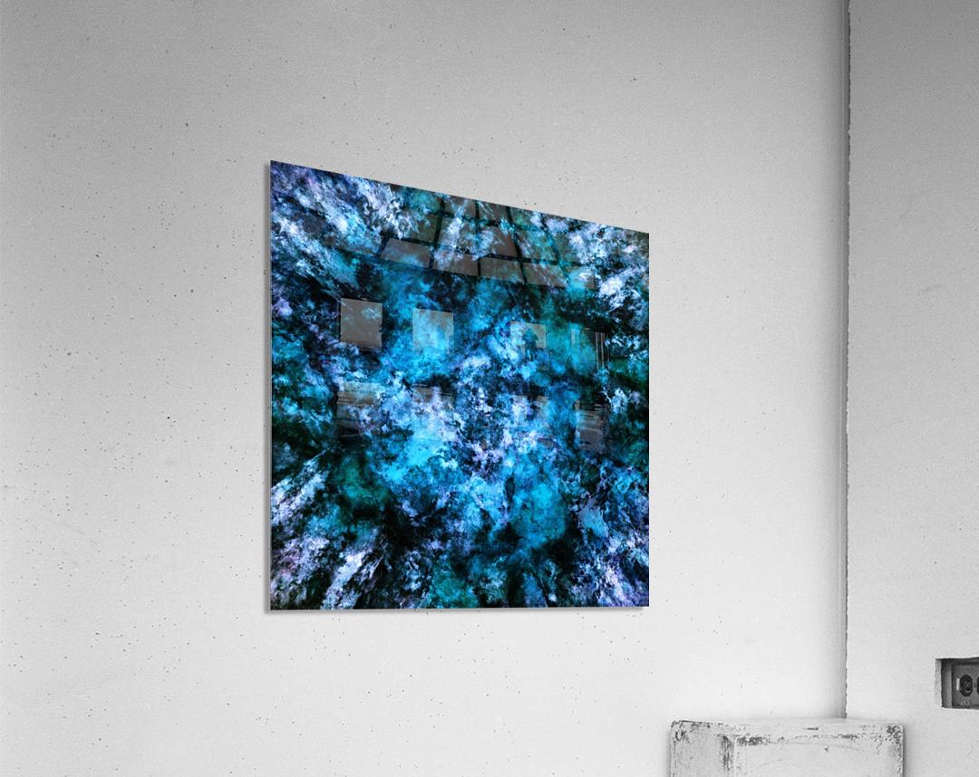 Blue burst  Impression acrylique