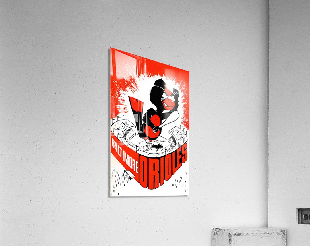 hal decker artist baltimore orioles poster  Impression acrylique