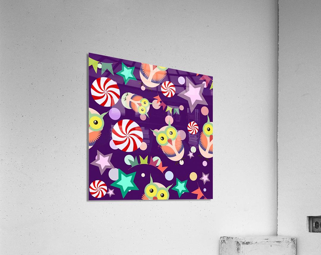 owl pattern background  Acrylic Print