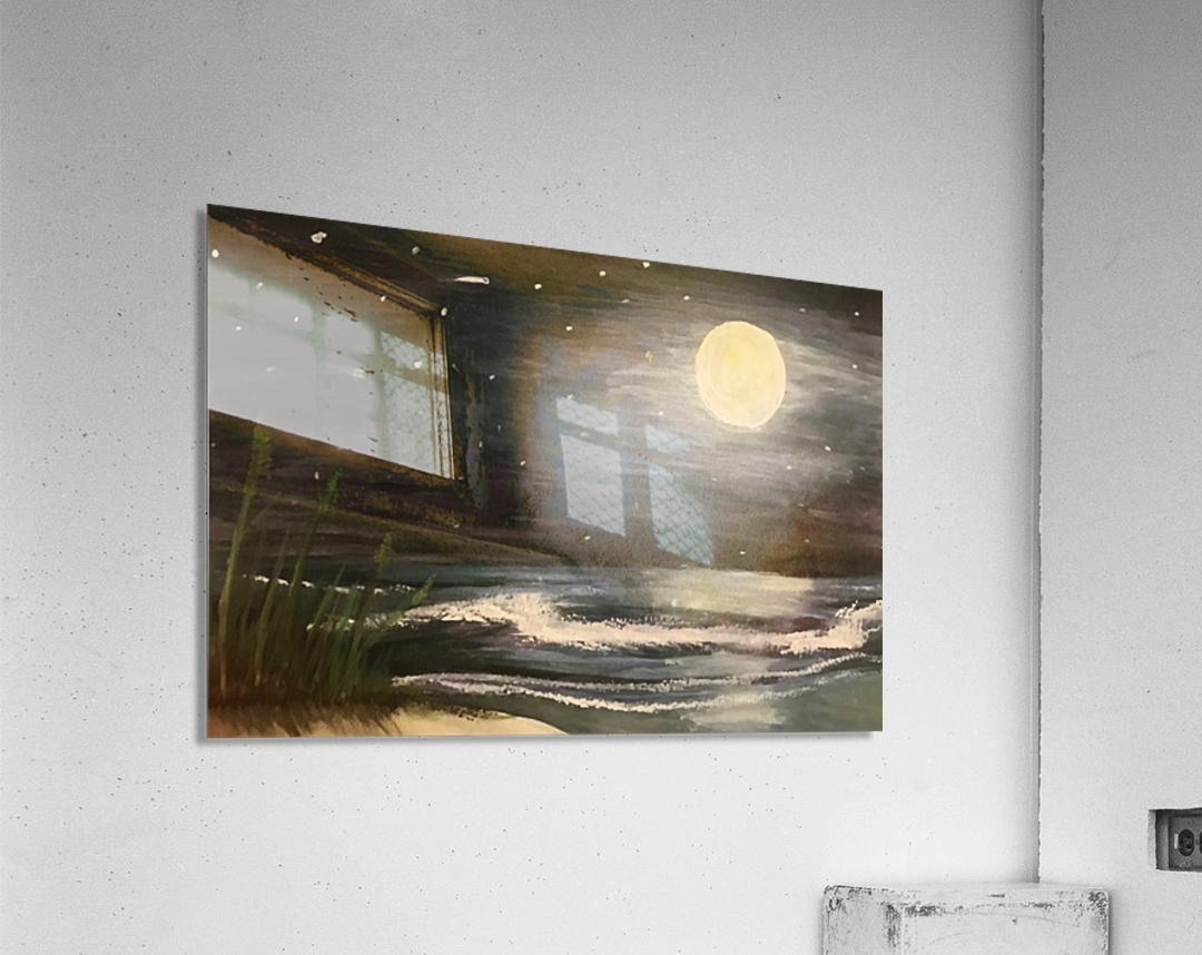 Moonlit Seascape  Acrylic Print