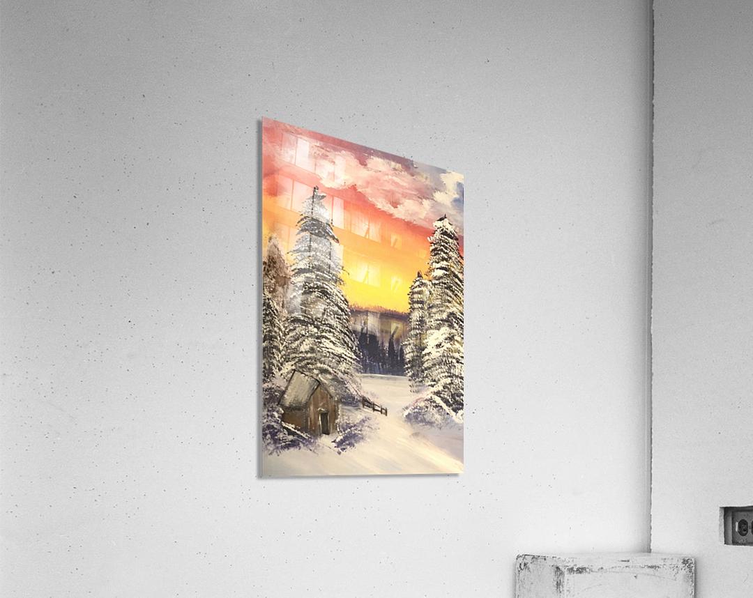 Snow At Sunset  Acrylic Print
