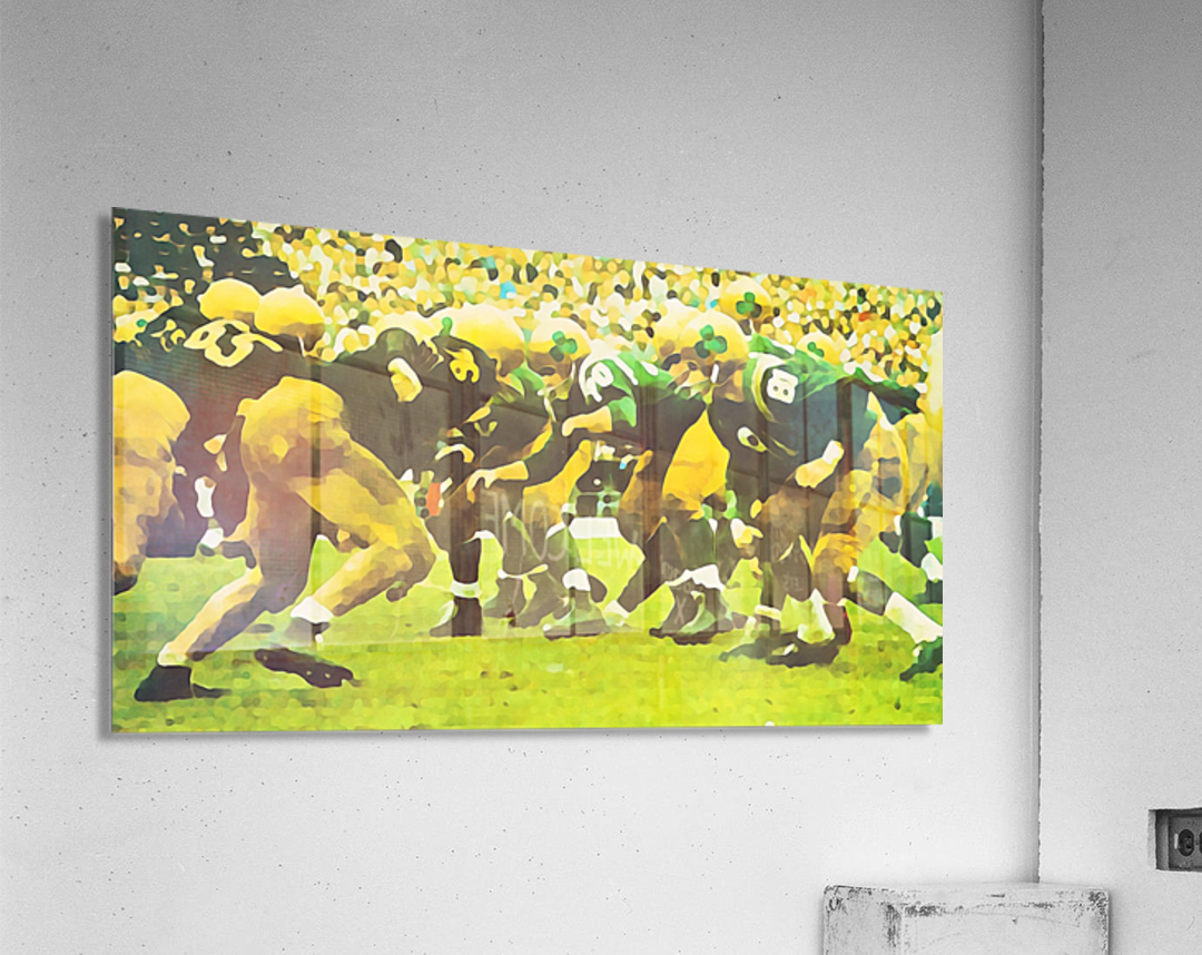 best notre dame football art  Acrylic Print