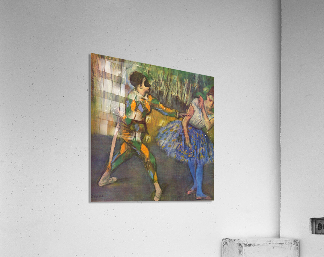 Harlequin and Colombine by Degas  Acrylic Print