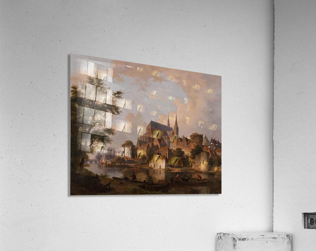 Capriccio stadsgezicht, elementen Deventer  Acrylic Print