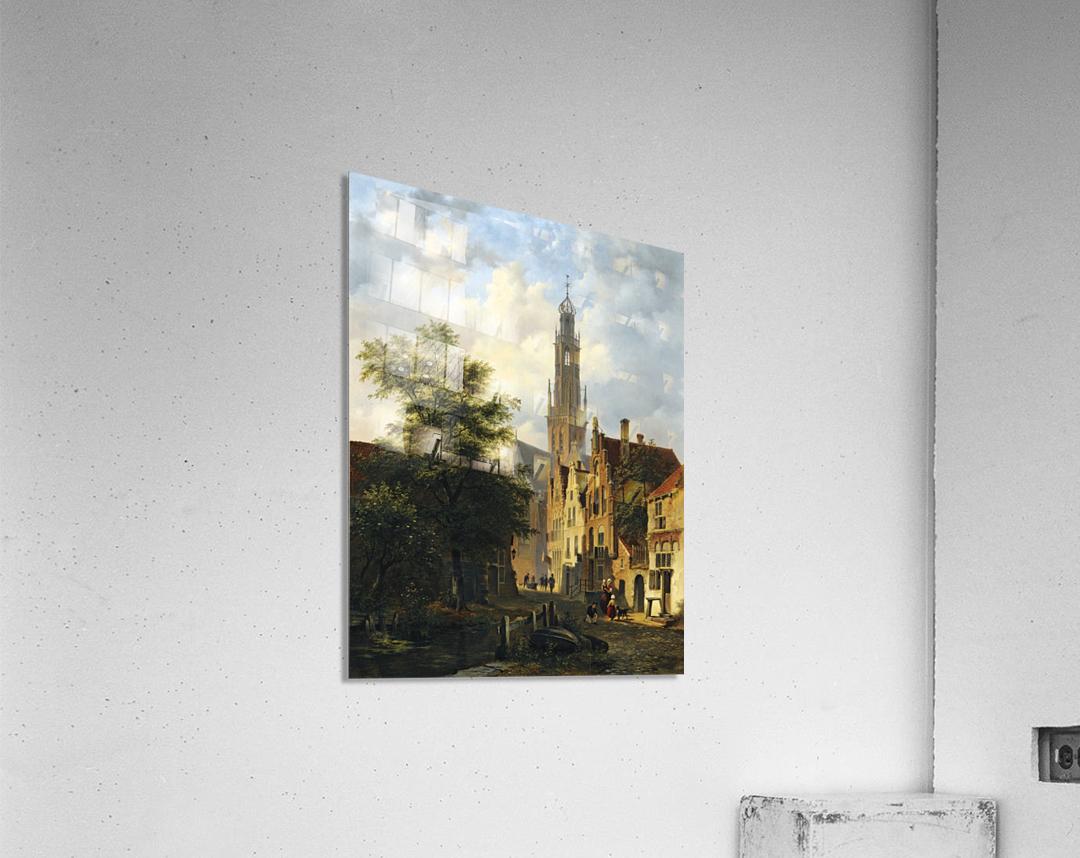 Bakenesserkerk seen from The Valkestraat, Haarlem  Acrylic Print