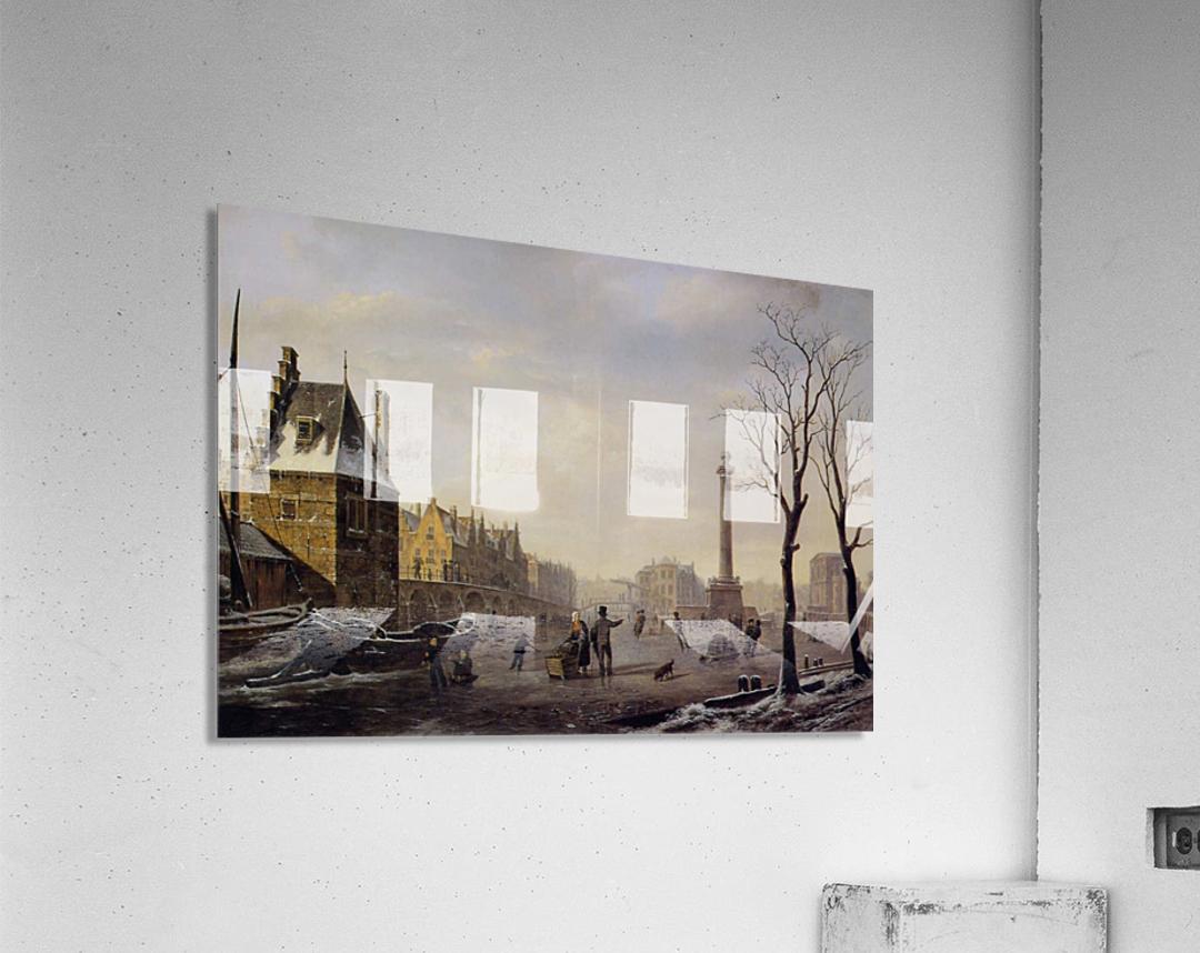 Pompenburg met Hofpoort in de winter  Acrylic Print