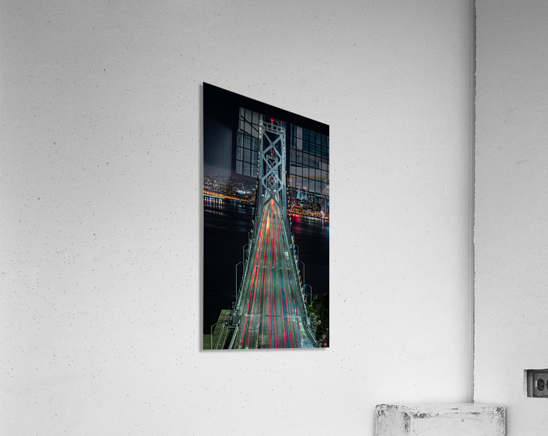 Oakland - San Francisco Bay Bridge at Night  Acrylic Print