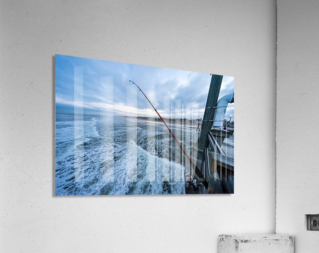 Fishing in Huntington Beach  Acrylic Print
