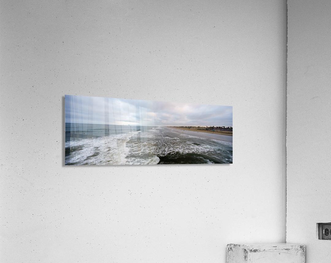 Huntington Beach Panorama  Acrylic Print