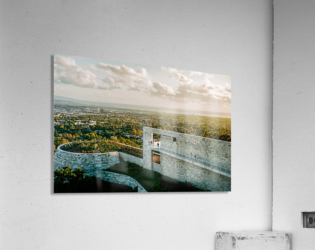 Sunset At The Getty  Acrylic Print
