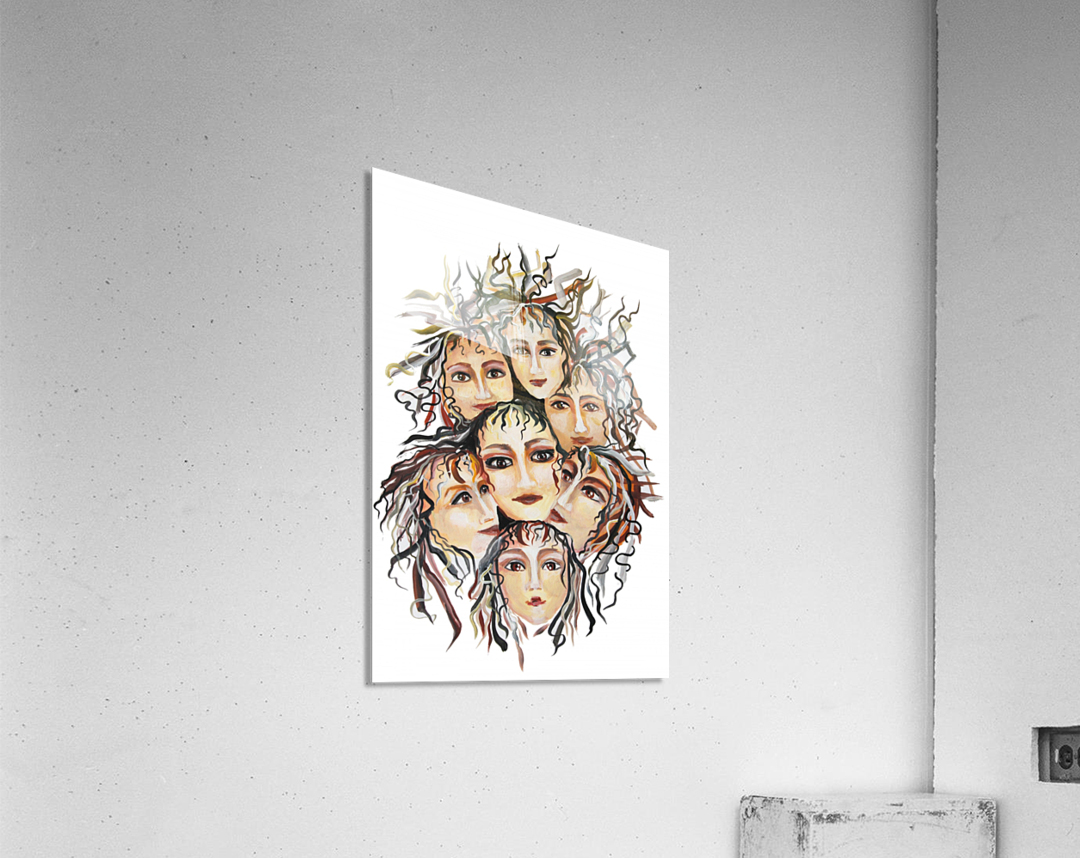 Pop Surrealism Energy  Acrylic Print