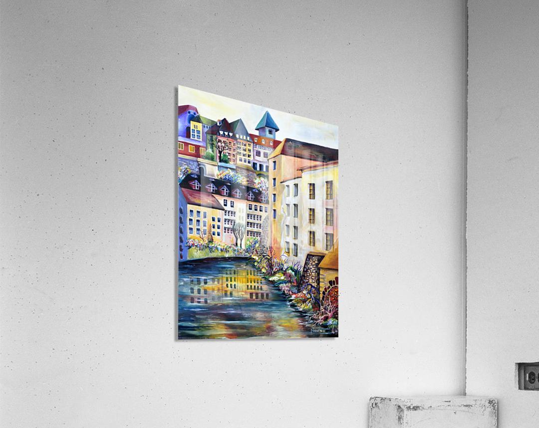 Sweden Stockholm Gamla Stan Watercolor  Acrylic Print