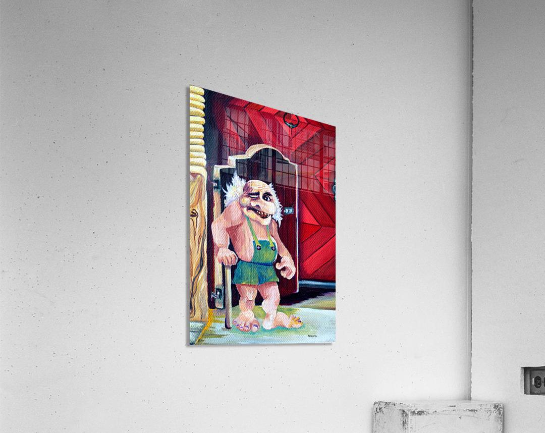 Scandinavian Folklore Troll Artwork   Acrylic Print