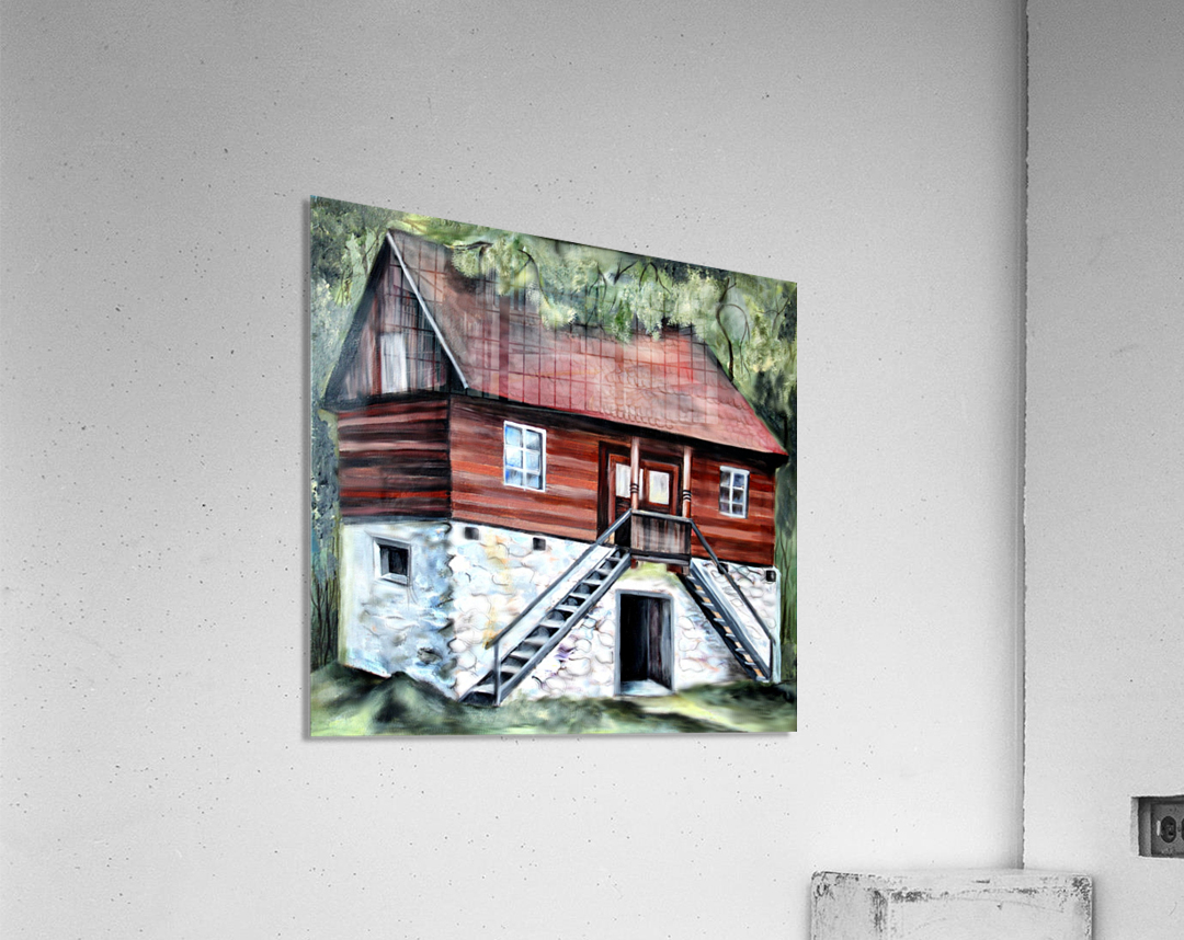 Romania Transylvania Historical Traditional House  Acrylic Print