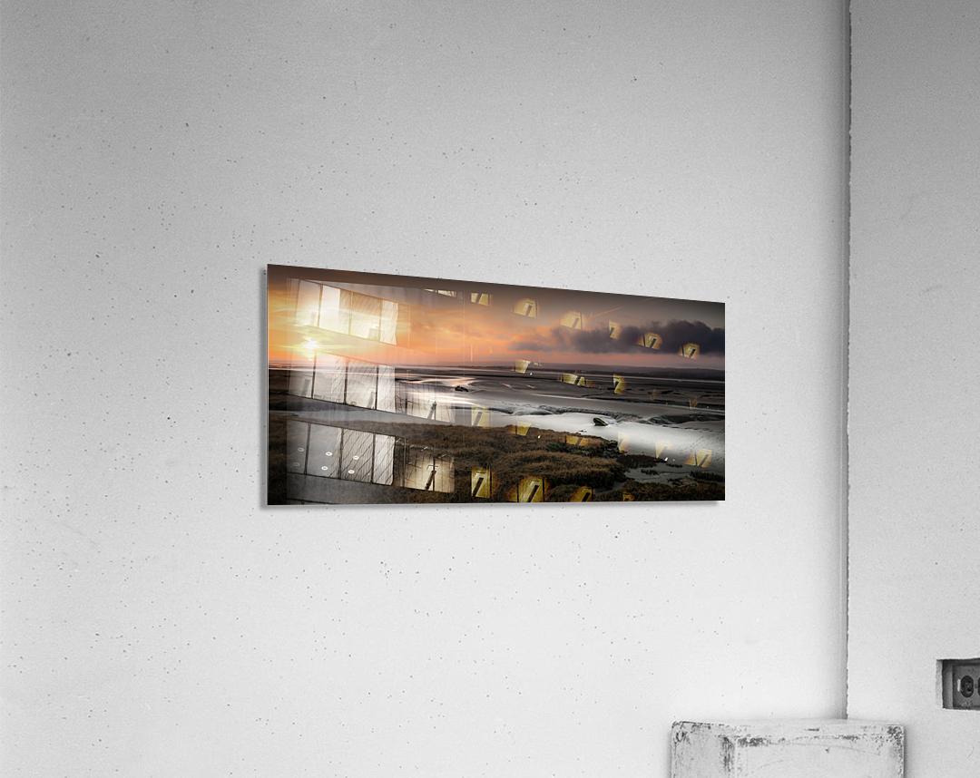 Penclawdd marsh sunset  Acrylic Print