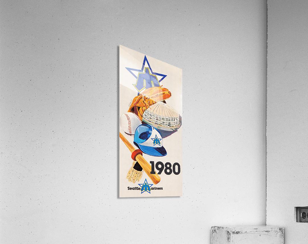 1980 Seattle Mariners Art Remix  Acrylic Print
