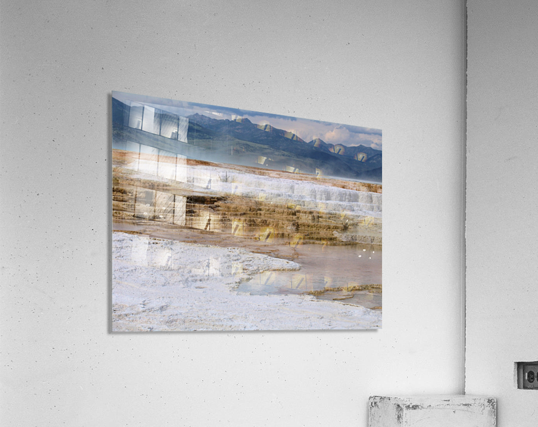 Mammoth Hot Springs part 2 Yellowstone National Park  Acrylic Print