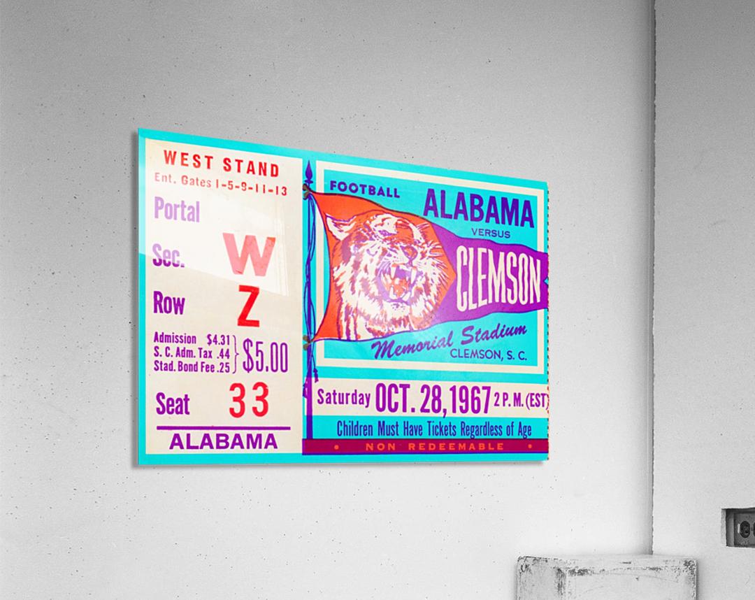 1967 Alabama vs. Clemson  Acrylic Print