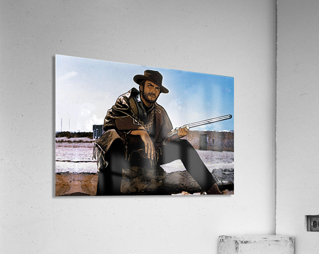 Clint Eastwood as The Man With No Name  Acrylic Print