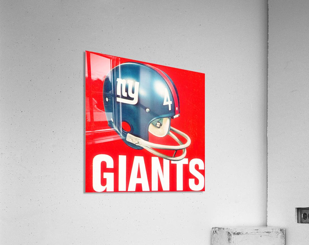 Vintage New York Giants Football Helmet Art  Acrylic Print