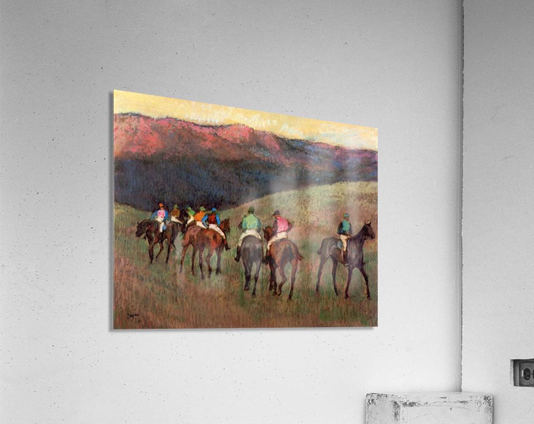 Jockeys in Training by Degas  Acrylic Print