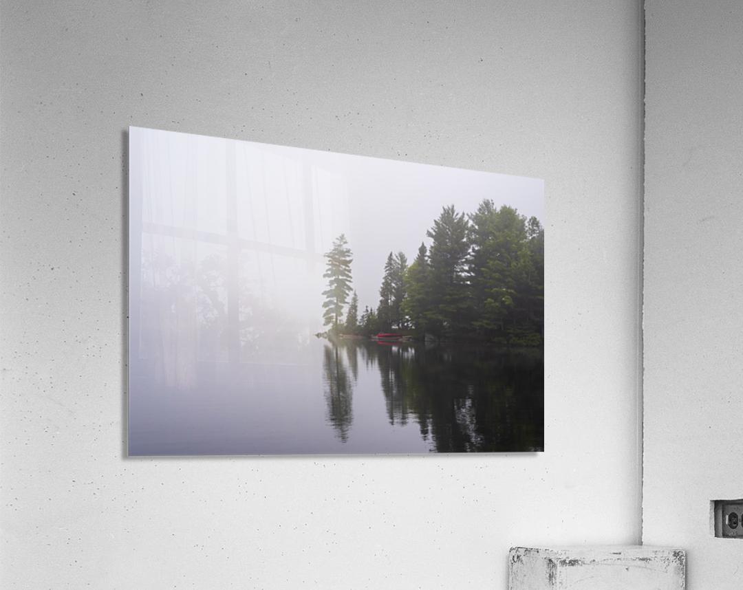 Koshlong Lake Fog  Acrylic Print