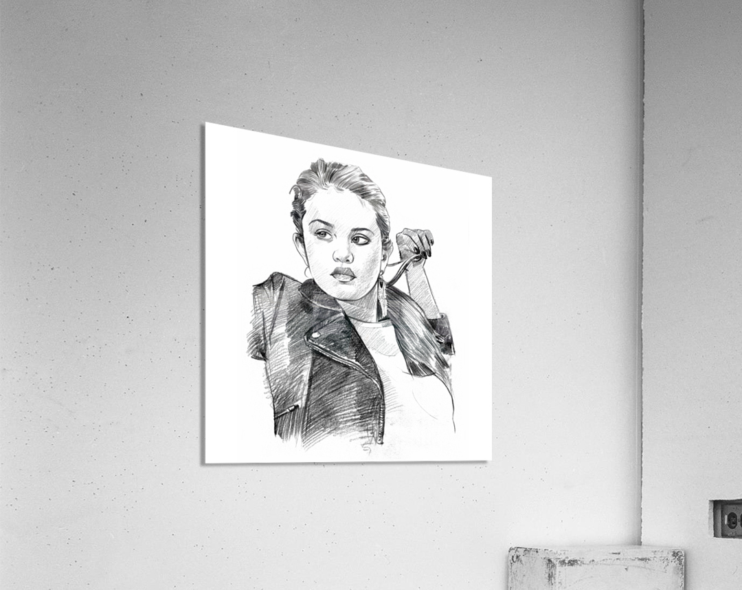 Selena Gomez - Celebrity Pencil Art  Acrylic Print